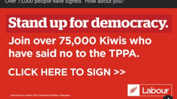 NEW ZEALAND 75,000 Signature sign TPPA