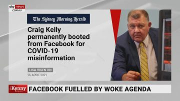 Facebook's banning of Craig Kelly's page is a 'worry' regard